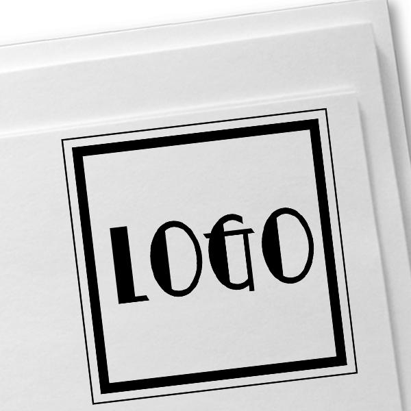 Mini Square Logo Stamp Imprint Example