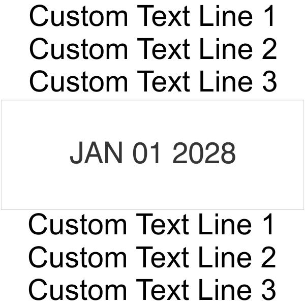 Trodat Professional 5460 | Ideal 6610 Customization layout