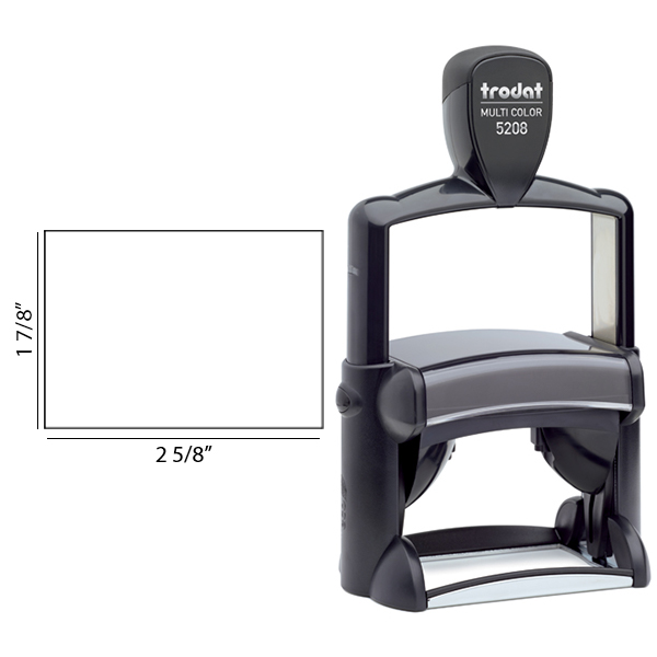 Trodat Professional 5208 | Ideal 6800 impression area