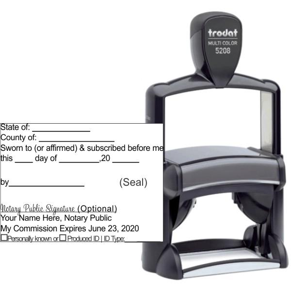 Jurat Trodat Professional 5208 | Ideal 6800 Self-Inking Stamp