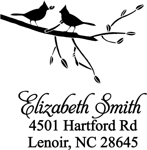 Birds Giving Gifts Address Stamp
