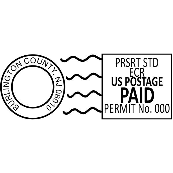 Permit Imprint Indicia Stamp