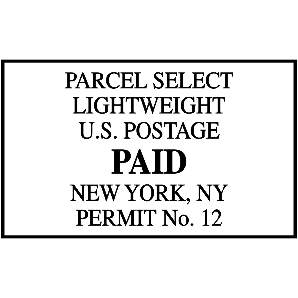 Parcel Select Mail Permit Stamp
