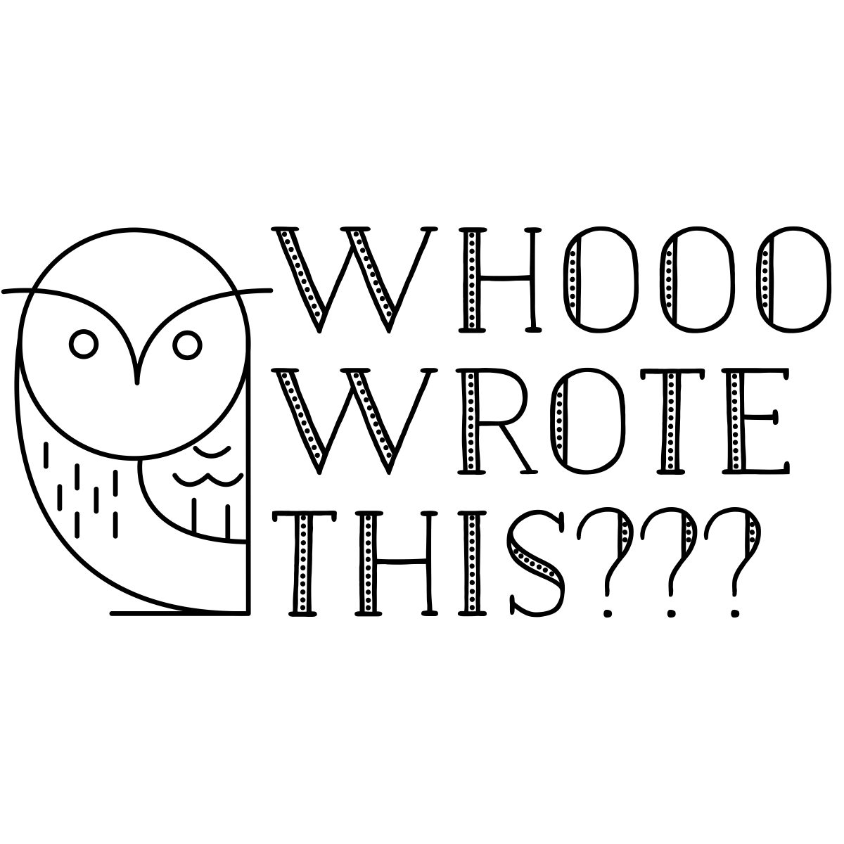 Who Wrote This Owl Teacher Stamp