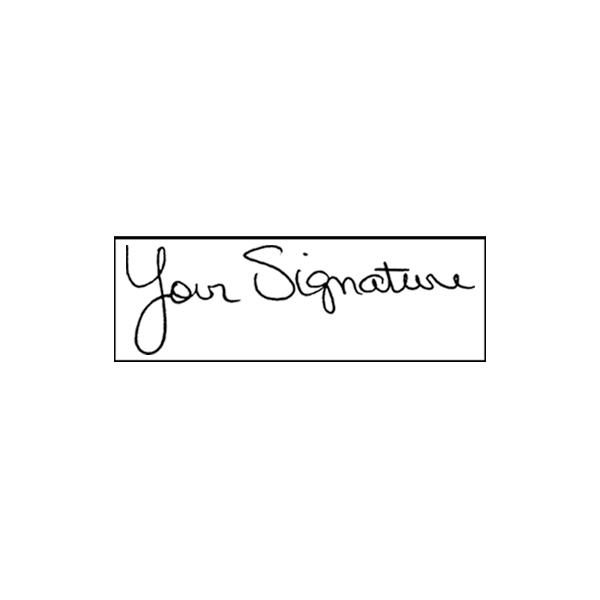 Pre-Inked Signature Stamp