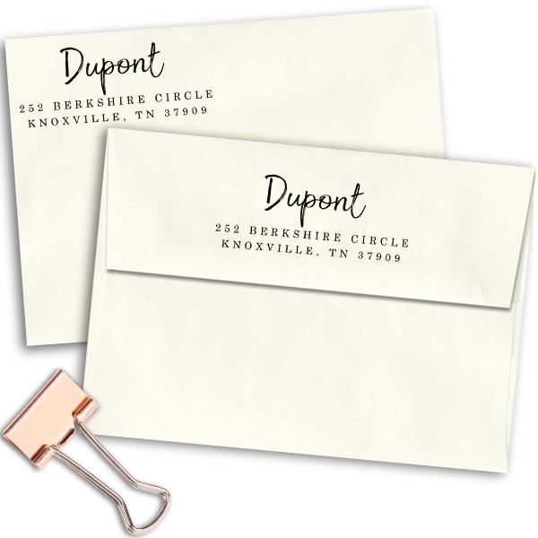 Dupont European Return Address Stamp