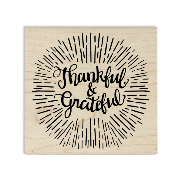 Thankful & Grateful Craft Stamp Body and Design