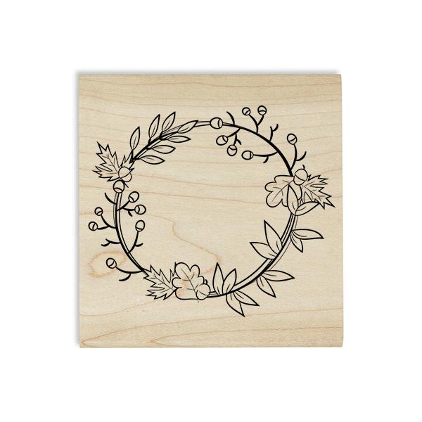 Autumn Wreath Craft Stamp Body and Design