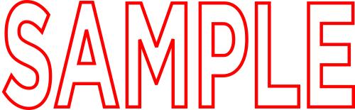 Pre-Inked Xstamper SAMPLE Stamp