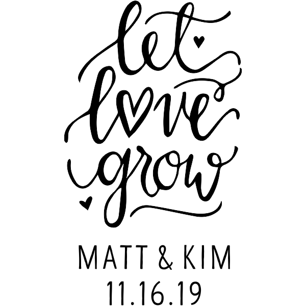 Let Love Grow DIY Wedding Stamp