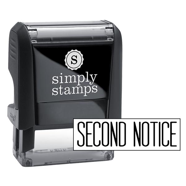 Second Notice Stock Stamp
