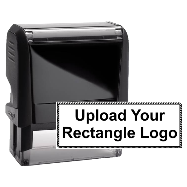Rectangle Logo Custom Stamp with Scalloped Border