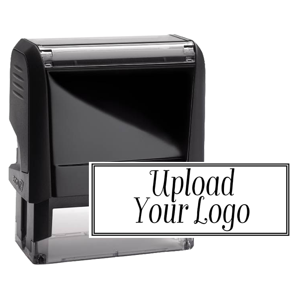 Rectangle Logo Custom Stamp with Double Line Border