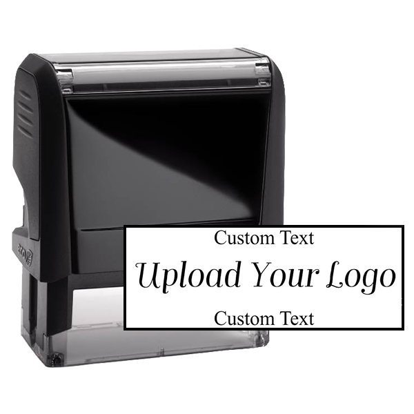 Rectangle Logo Custom Stamp with Text Above and Text Below
