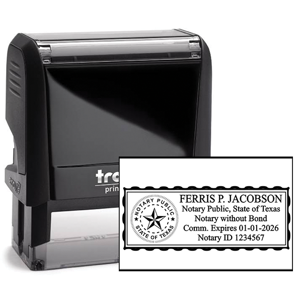 Texas Notary without Bond Rectangle