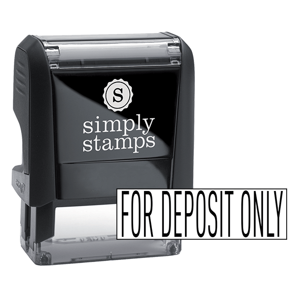 For Deposit Only Stock Stamp