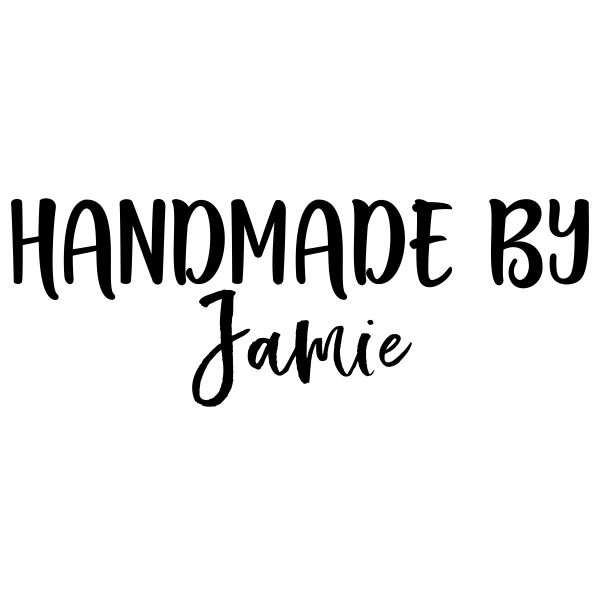 Custom Handmade By Signature Stamp Imprint Example