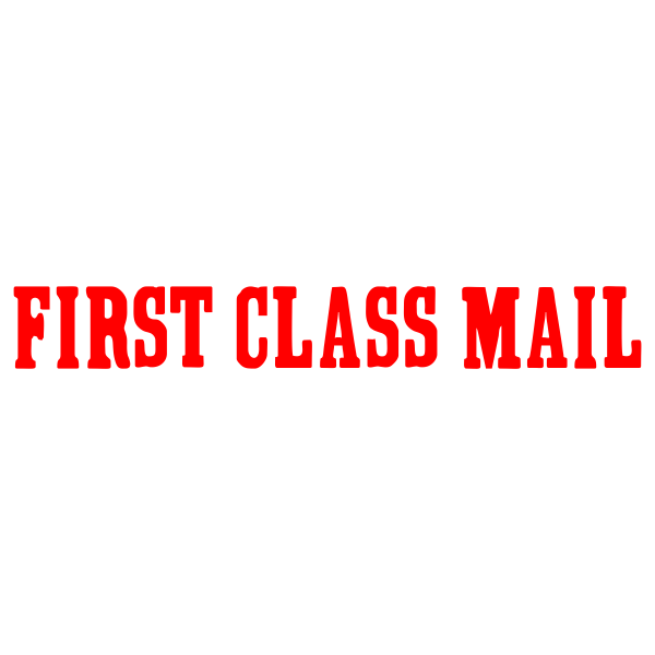 FIRST CLASS MAIL Stock Stamp