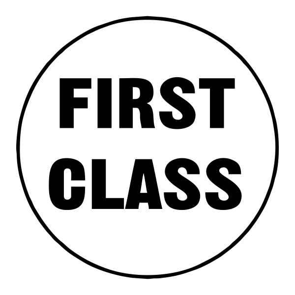 First Class Stock Stamp