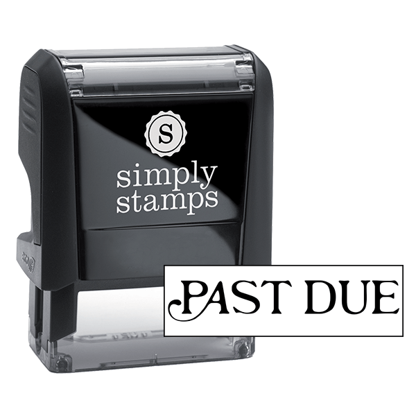 Past Due Stock Stamp