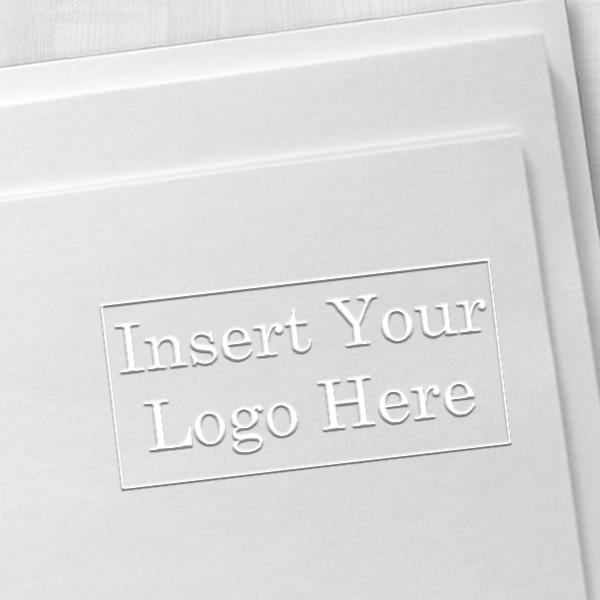 Rectangle Logo Embosser Seal Impression Example