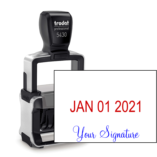 Trodat Professional Custom Signature Below Date Dater Stamp