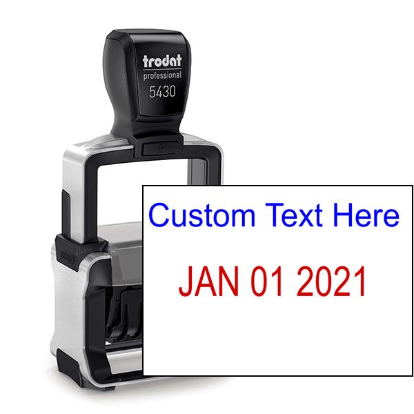 Trodat Professional Top Line Custom Text Dater Stamp