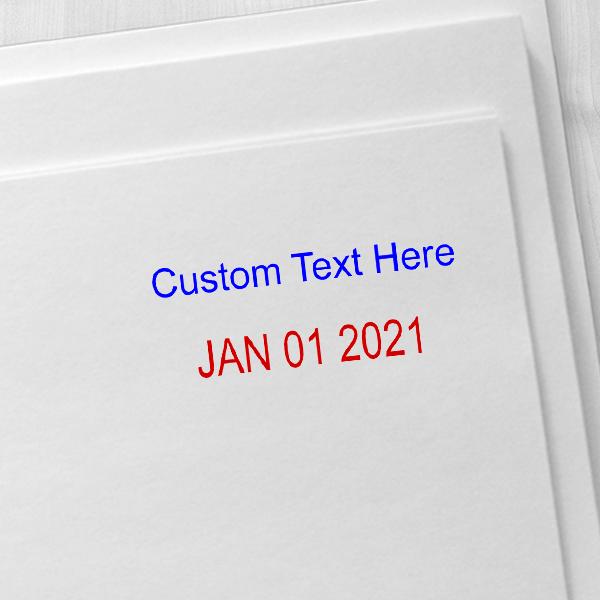 Trodat Professional Top Line Custom Text Dater Stamp Imprint Example