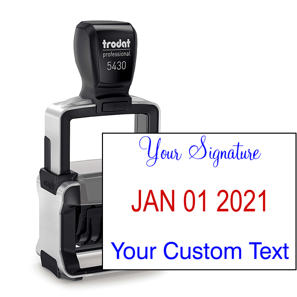 Trodat Professional Custom Text With Your Signature Top Stamp