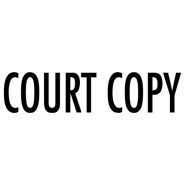 Court Copy Stock Stamp