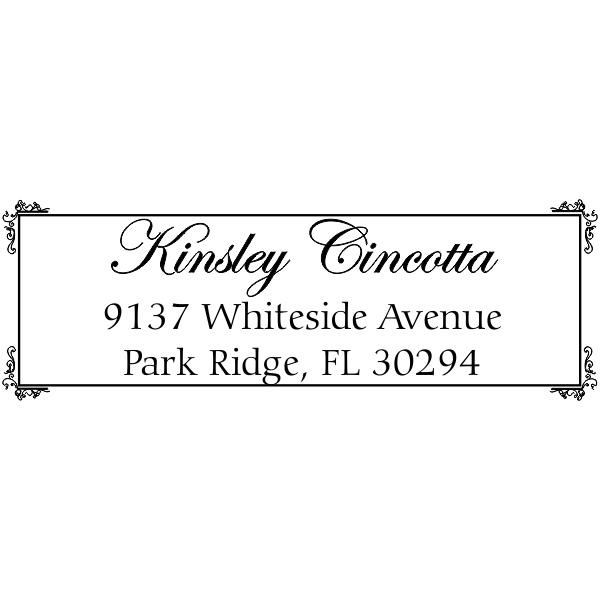Kinsley Fancy Border Address Stamp