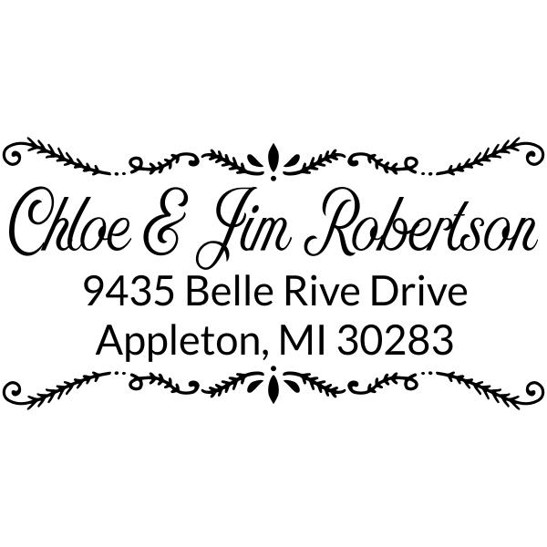 Robertson Fancy Border Address Stamp