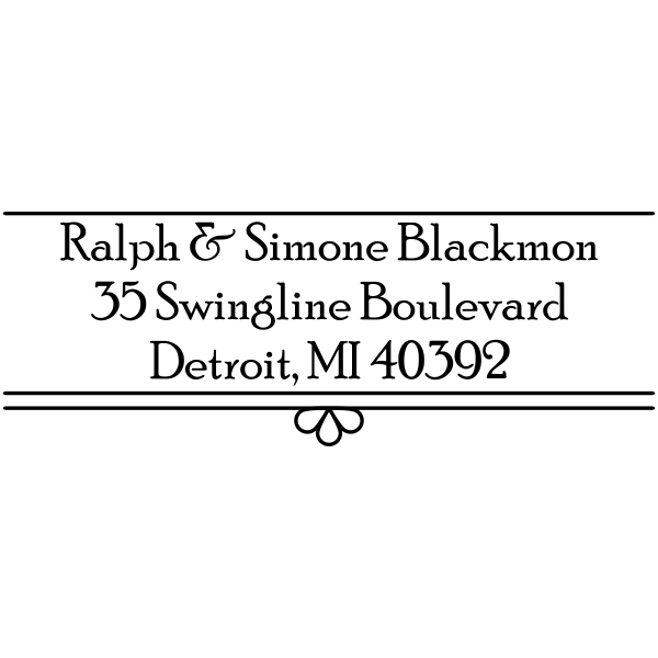 Simone Fancy Border Address Stamp