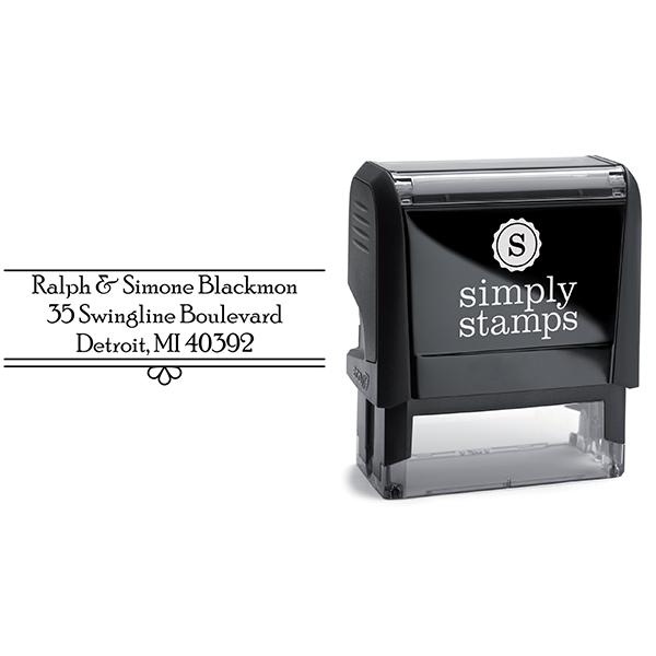 Simone Fancy Border Address Stamp with Stamp Body