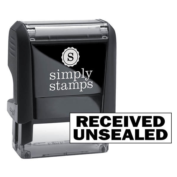 Received Unsealed Stock Stamp