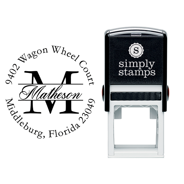 Letter Script Name Return Address Stamp Body and Design