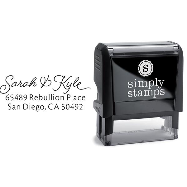 San Diego Script Address Stamp Body and Design
