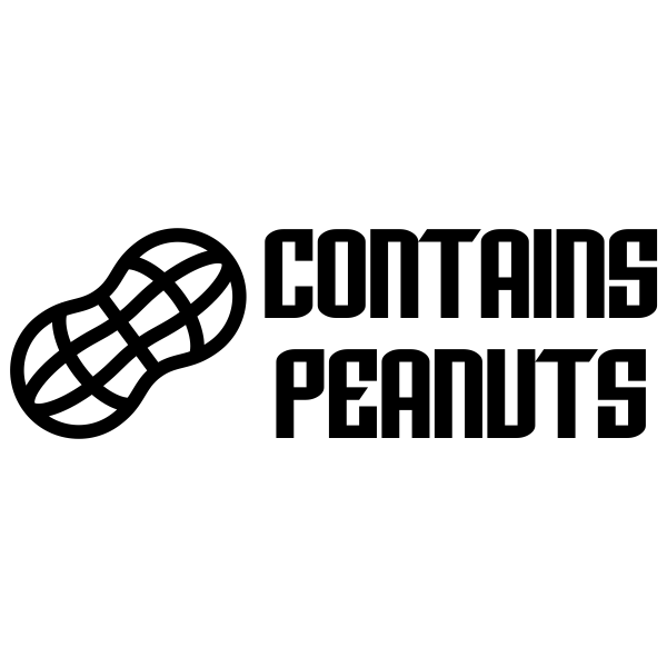 Contains Peanuts Stamp Imprint Example