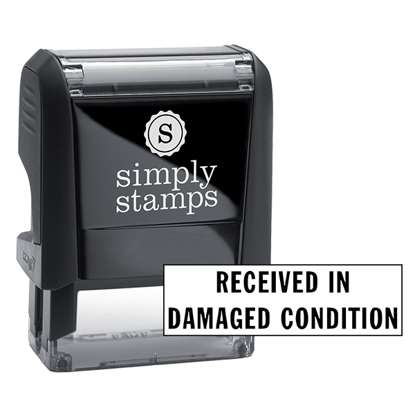 Received In Damaged Condition Stock Stamp