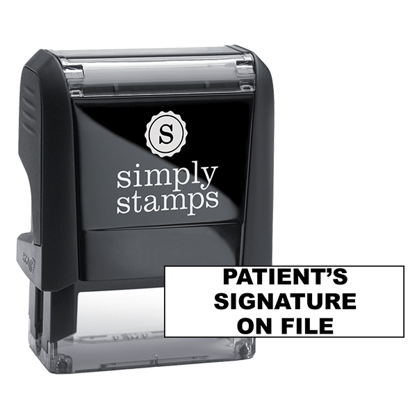 Patient's Signature On File Stock Stamp