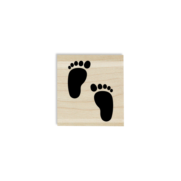 Two Little Feet Craft Stamp Body and Design