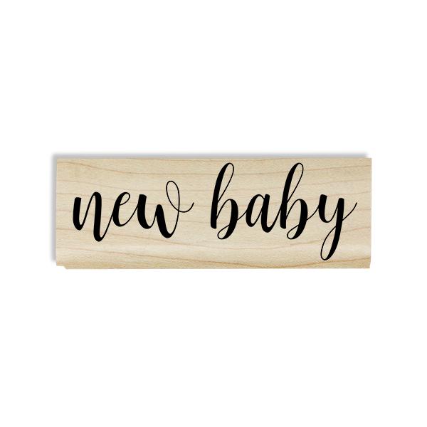 New Baby Cursive Craft Stamp Body and Design