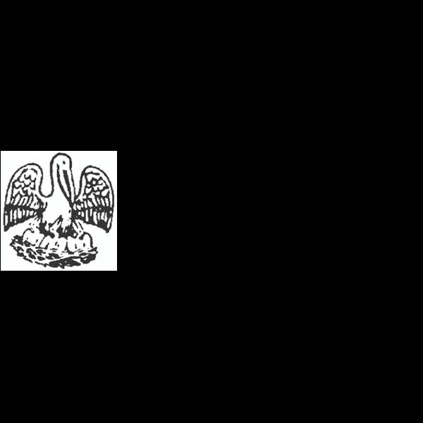 Louisiana Notary Pink Stamp - Rectangle Imprint Example