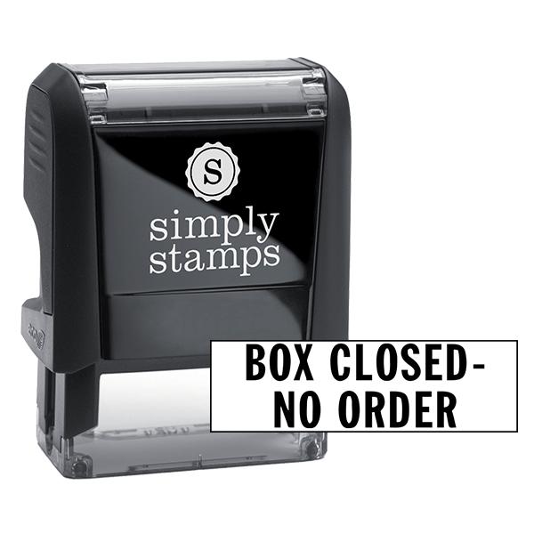 Box Closed-No Order Stock Stamp