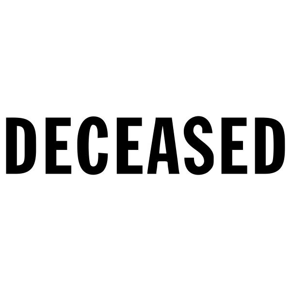 Deceased Stock Stamp