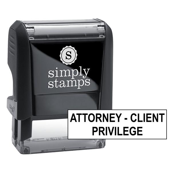 Attorney Client Privilege Stock Stamp