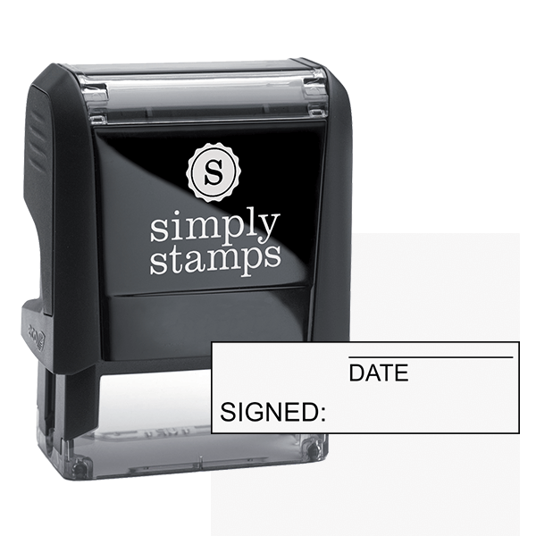 Signed/Date Stock Stamp