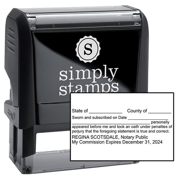 Louisiana Affadavit Notary Stamp
