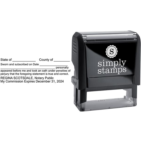 Louisiana Affadavit Notary Stamp Body and Design