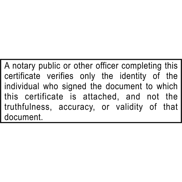 California Notary Disclosure Stamp Imprint Example